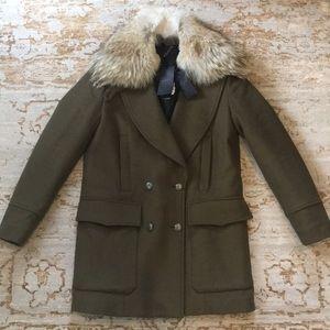 "Belstaff ""Whitney"" Cashmere & Coyote Fur Coat"